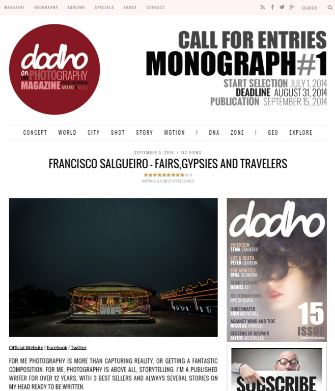 Published in the respected Spanish photo site Doho.com (Setember 2014) https://franciscosalgueirophotography.files.wordpress.com/2013/03/dodho-5set2014.jpg