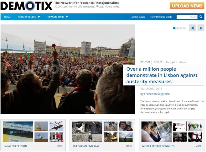 Demotix's Agency Front Page