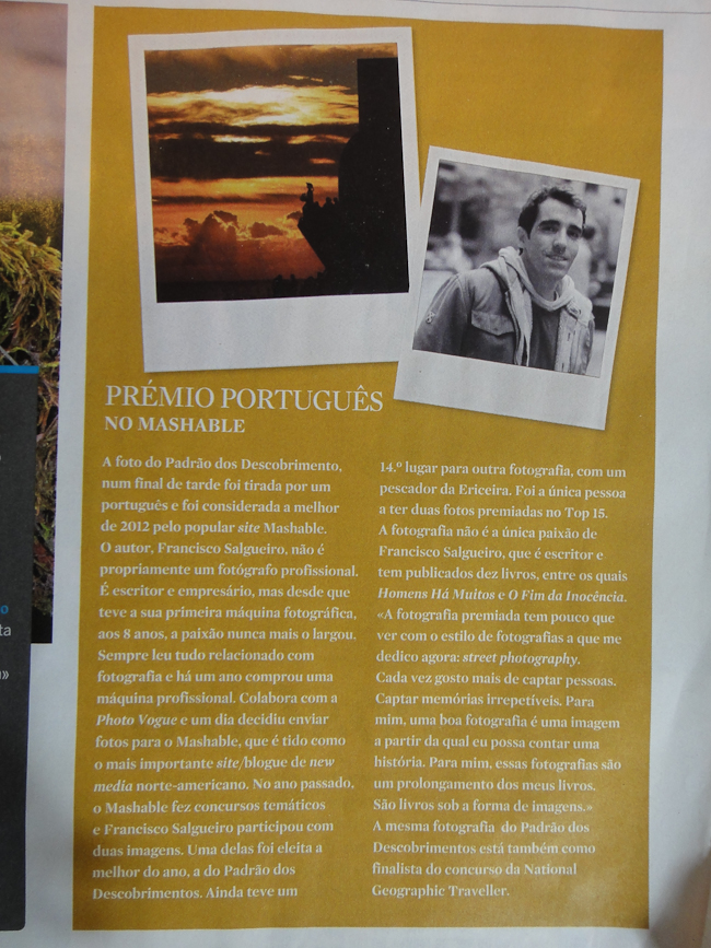 Interview on the most popular magazine in Portugal with over 3 million readers - Notícias Magazine