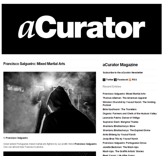 Featured in one of the most influential photo blogs curator sites in the United States: aCurator (Febreuary 2015) http://acurator.com/blog/2015/02/francisco-salgueiro-mixed-martial-arts.html