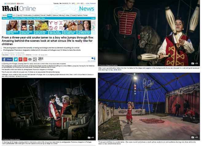 MailOnline (England)- 35 photos from the circus series